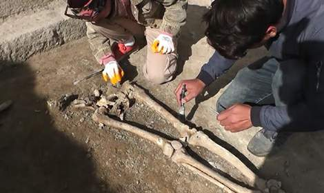 Tokat Sebastopolis Antik Kenti'nde 3 insan iskeleti
