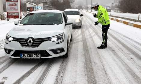 Tokat'ta kar yağışı etkili oldu; okullar yarında tatil