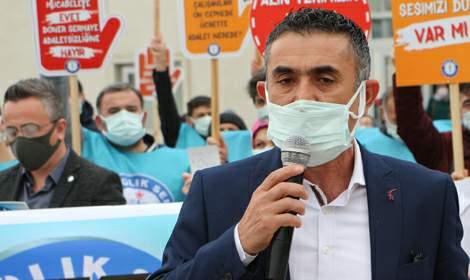 Tokat'ta, Sağlık-Sen'den 'döner sermaye' eylemi
