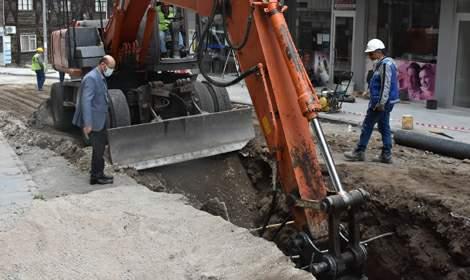Başkan Özcan, ilçedeki çalışmaları yerinde inceledi