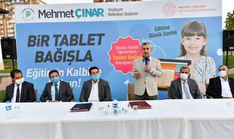 Başkan Mehmet Çınar, 'Bir tablet bağışla, Eğitimin kalbine dokun'