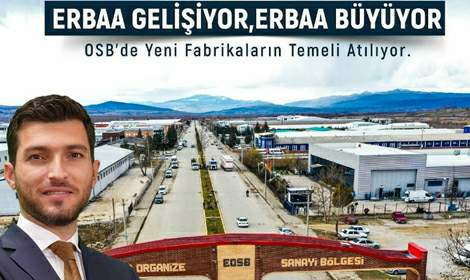 Erbaa OSB'ye yeni fabrikalar geliyor
