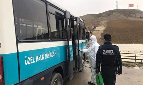 Erbaa'da 32 minibüs şoförü, tedbirler sayesinde koronavirüse yakalanmadı