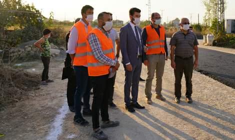 Erbaa'da asfalt çalışmaları sürüyor