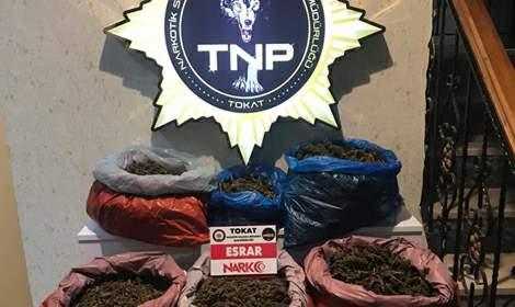 Erbaa'da Uyuşturucu Operasyonu: 34 Kilo 832 Gram Esrar