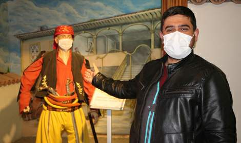 Tokat'ta farkındalık için müzedeki balmumu heykellere 'maske'