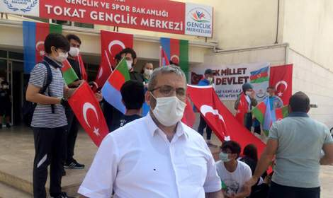 Tokat Gençlik Merkezi'nden Azerbaycan'a destek