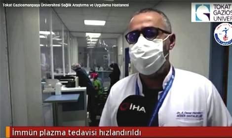 G.O.P. Üniversitesi Hastanesi immün plazma tedavisine başladı