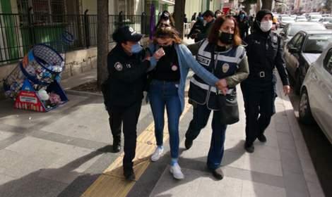 Tokat'ta kadınların izinsiz yürüyüşüne müdahale; 7 gözaltı