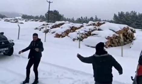 Tokatlıların 'kar' eğlencesi sosyal medyada