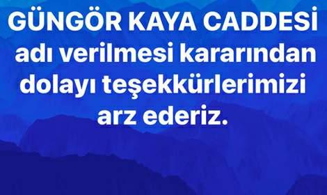 Kaya Ailesi'den Tokat Belediyesi'ne teşekkür