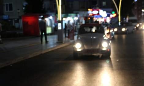 Klasik otomobilleriyle Cumhuriyet Bayramı'nı kutladılar