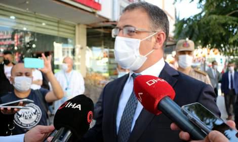 Tokat'ta koronavirüs denetimine katılan Vali Balcı, 'Paniğe gerek yok'