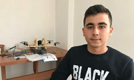 Liseli Osman, tasarladığı 'insanlı dron' için destek arıyor