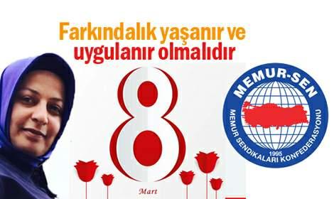 Memur-Sen ve Sağlık-Sen'den 8 Mart Kadınlar Günü açıklaması