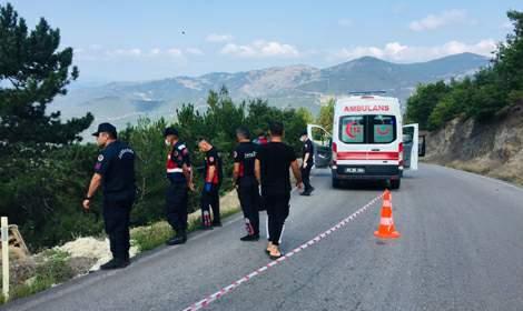 Erbaa'da minübüs şarampole düştü: 1 yaralı