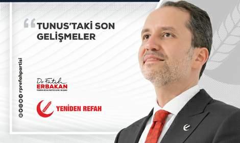 Fatih Erbakan, Tunus darbesinin arkasında dış güçler var'