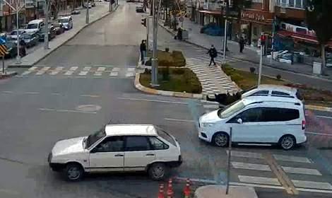 Tokat'ta, trafik kazaları KGYS kameralarında