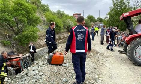 Tokat'ta sulama kanalına düşen traktörün sürücüsü öldü