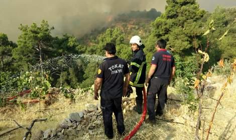 Tokat Belediyesi'nden Antalya'daki yangınlara itfaiye desteği