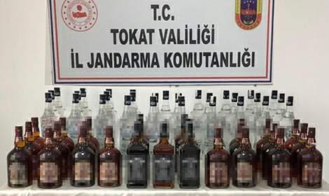 Tokat'ta, 102 litre kaçak içki ele geçirildi