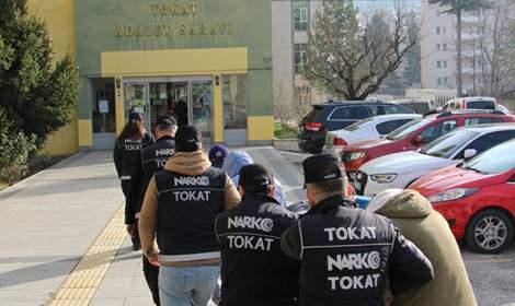 Tokat merkezli 2 ildeki uyuşturucu operasyonunda 3 tutuklama