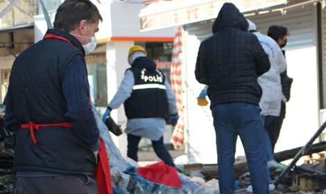 Tokat'ta 7 dükkanı kullanılamaz hale getiren yangının hasarı