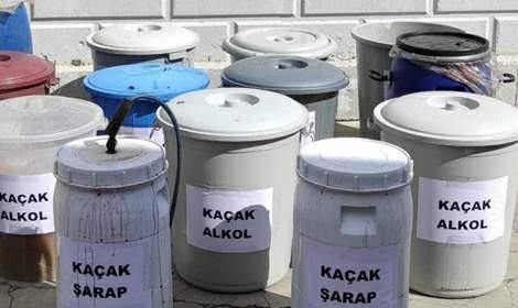 Tokat'ta 750 litre kaçak alkol ele geçirildi