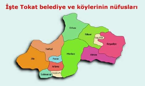 İşte Tokat belediye ve köylerinin nüfusları