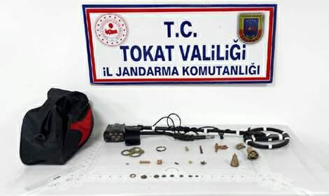 Zile'de Jandarma Operasyonunda 21 Parça Tarihi Eser Yakalandı