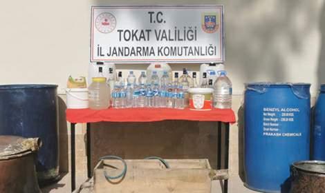 Jandarma Operasyonunda 580 Litre Sahte İçki Yakalandı