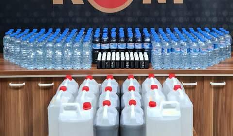 Tokat'ta sahte içki operasyonunda 8 gözaltı
