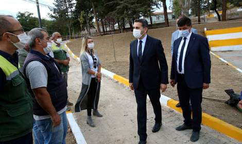 Tokat'ta yangında hasar gören çocuk parkı yenilendi