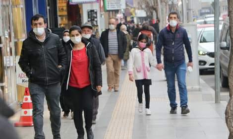 Vaka sayısı artan Tokat'ta cadde ve sokaklarda yoğunluk