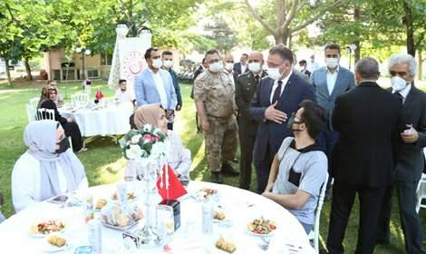 Vali Balcı, Şehit yakınları, Gaziler ve Aileleri ile biraraya geldi
