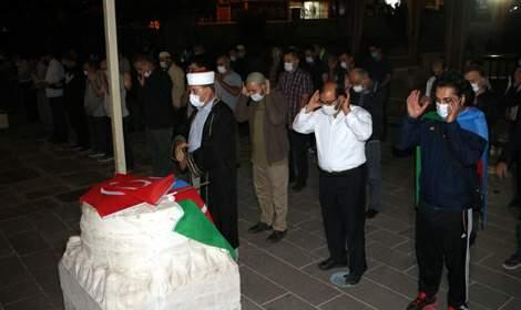 Tokat'ta Azerbaycan'daki şehitler için gıyabi cenaze namazı kılındı