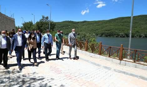 Vali Ozan Balcı, Zinav Kanyonu'nda incelemelerde bulundu